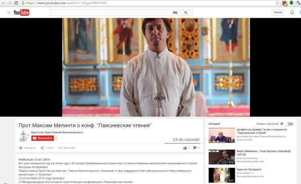 Maxim Melinti cheama oamenii la conferinta sectantilor (youtube 2015)